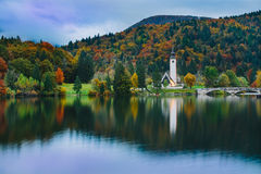 Gorgeous view of colorful autumnal scene Stock Images