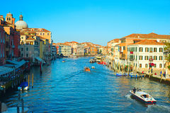 Gorgeous view on famous Venice Canal in the sunset light Stock Photo