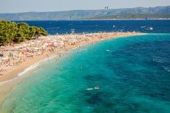 Gorgeous view on Golden Cape on Brac island, Croatia Stock Photos