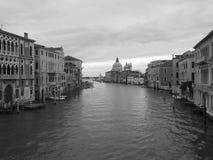 Gorgeous view of Grand Canal and Basilica Santa Maria della Salu Royalty Free Stock Photos