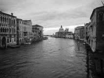 Gorgeous view of Grand Canal and Basilica Santa Maria della Salu Royalty Free Stock Image