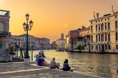 Gorgeous view of the Grand Canal. During sunset, Venice, Italy Stock Images