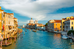 Gorgeous view of the Grand Canal in Venice Royalty Free Stock Photography