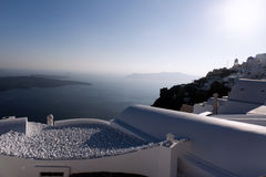 Gorgeous view of romantic Santorini Royalty Free Stock Photos