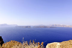 Gorgeous view of romantic Santorini Stock Photography