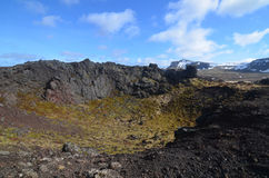Gorgeous View of a Volcanic Crater in Iceland Royalty Free Stock Photo