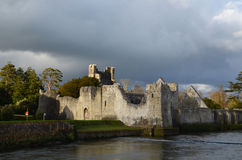 Gorgeous Views of Desmond Castle Ruins in Ireland Stock Photo