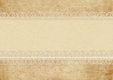 Gorgeous vintage background with lace Royalty Free Stock Images