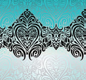 Gorgeous vintage Black & Turquoise background design Royalty Free Stock Images