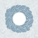 Gorgeous vintage lace-like paisley frame Royalty Free Stock Images