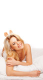 Gorgeous vivacious blonde woman Stock Images