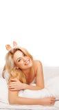 Gorgeous vivacious blonde woman Stock Images