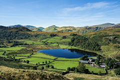 Gorgeous Watendlath valley from High Seat in the Lake District Royalty Free Stock Image