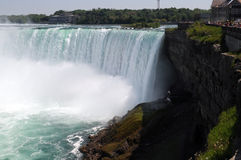 Gorgeous Waterfall view enjoying. Nice Niagara falls cascade view stock photos
