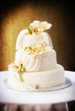 Gorgeous wedding cake. Three tiered classic wedding cake Stock Photo