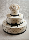 Gorgeous wedding cake Stock Images
