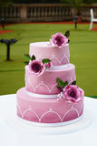 Gorgeous wedding cake Stock Photo