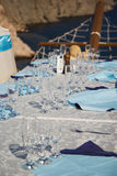 Gorgeous wedding chair and table Royalty Free Stock Photos