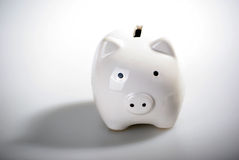 Gorgeous White piggy bank. Isolated on white background Royalty Free Stock Photo