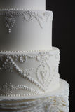 Gorgeous white wedding cake Stock Image