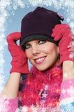 Gorgeous winter girl Stock Photo