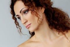 Gorgeous woman with beautiful face Stock Photos