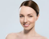Gorgeous woman with beautiful face Royalty Free Stock Photography