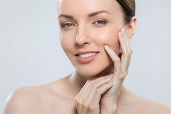 Gorgeous woman with beautiful face Stock Photography