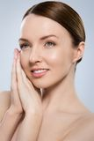 Gorgeous woman with beautiful face Royalty Free Stock Image