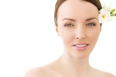 Gorgeous woman with beautiful face Stock Images