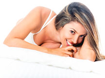 Gorgeous woman in bed Stock Photography