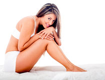 Gorgeous woman in bed Stock Image