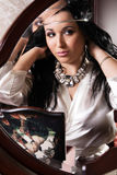 Gorgeous Woman Before Mirror Royalty Free Stock Photo