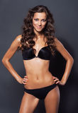 Gorgeous woman in black bikini Stock Photo