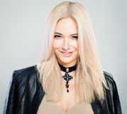 Gorgeous Woman with Blonde Hairstyle Royalty Free Stock Images