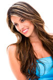 Gorgeous woman in blue Stock Photography