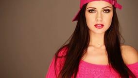 Gorgeous woman stock footage
