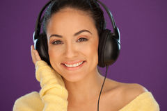 Gorgeous woman enjoying her music Royalty Free Stock Photo