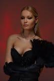 Gorgeous woman with feather fun Stock Photos