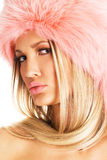 Gorgeous woman in a fur hat Royalty Free Stock Photos