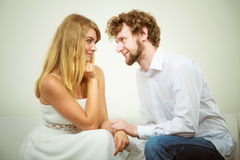 Gorgeous woman and handsome man. Loving couple. Royalty Free Stock Image