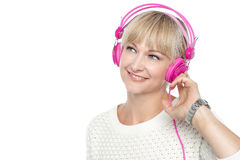 Gorgeous woman listening to music Stock Photo