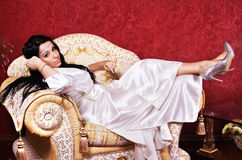 Gorgeous woman in luxurious apartment Royalty Free Stock Images