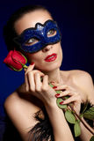 Gorgeous woman in mask Stock Image