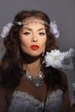 Gorgeous woman in masquerade mask Stock Photo