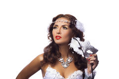 Gorgeous woman in masquerade mask Royalty Free Stock Images