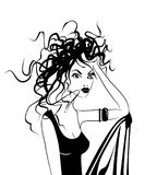 Gorgeous woman with messy hair royalty free stock images