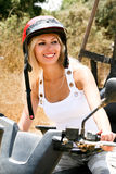 Gorgeous Woman On The Atv Stock Photography