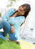 Gorgeous woman at the park Royalty Free Stock Photography