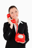 Gorgeous woman in on the phone Stock Photography